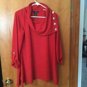 Lightweight Red flared tunic